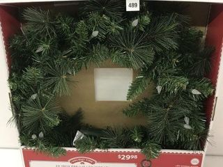 HOlIDAY TIME PRE lIT lED WREATH SIZE 24