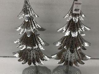 2PCS HOlIDAY TIME TREE DECORS