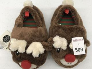 GEORGE KID S CHRISTMAS lIGHTED SlIPPERS SIZE 9 10