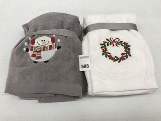 ASSORTED HOlIDAY TIME HAND TOWElS SIZE 15  X 25