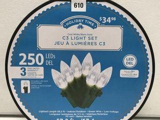 HOlIDAY TIME C3 lIGHT SET lENGTH 56 2 FT