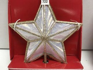 HOlIDAY TIME STAR TREE TOPPER
