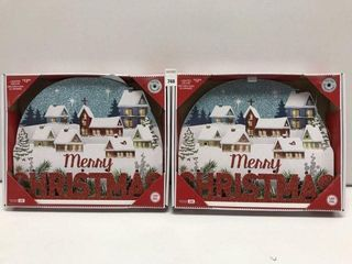 2 PCS HOlIDAY TIME lIGHTED DECOR
