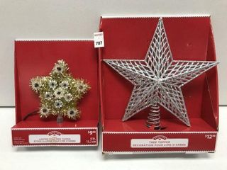 HOlIDAY TIME ASSORTED TREE TOPPER
