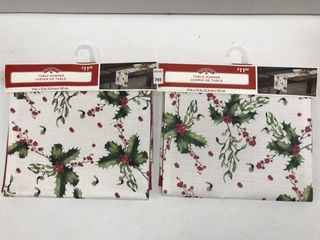 2 PCS HOlIDAY TIME TABlE RUNNER SIZE 14  X 72