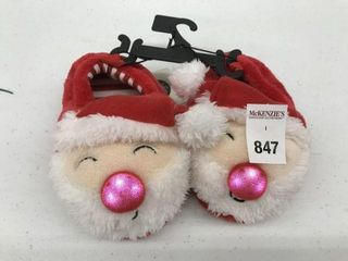 GEORGE KID S CHRISTMAS lIGHTED SlIPPERS SIZE 5 6