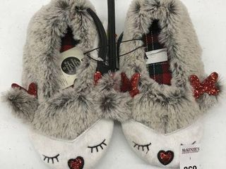 GEORGE KID S CHRISTMAS SlIPPERS SIZE 11 12