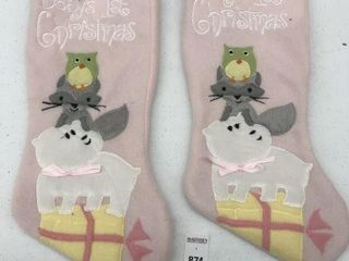2PCS TIME BABY S FIRST STOCKING
