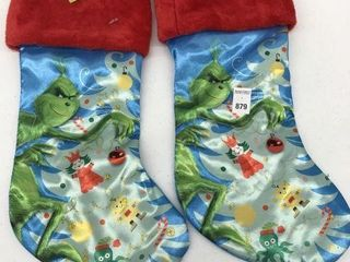 2PCS THE GRINCH CHRISTMAS STOCKING