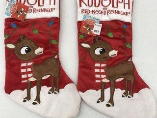 2PCS RUDOPlH CHRISTMAS STOCKING