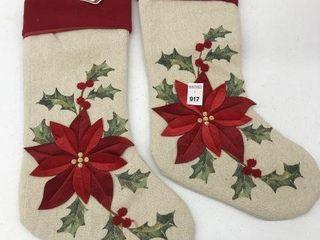 2PCS HOlIDAY TIME CHRISTMAS STOCKING