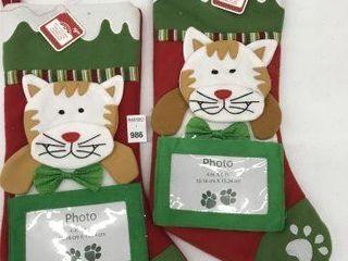 2PCS HOlIDAY TIME BABY S FIRST STOCKING