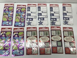 12PCS HOlIDAY TIME PEEl N  STICK TAGS
