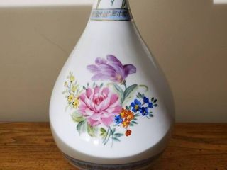 Hand Painted Bouquet of Flower Designed Vase