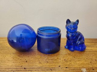 lot of 3 Cobalt Blue Collectible Trinkets