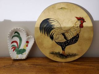 Rooster Pizza Tray and Kitchen Decor