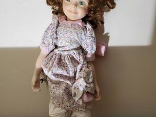 1754A Porcelain Doll with Green Eyes