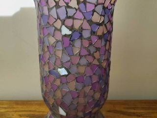 Beautiful Purple Mosaic Planter