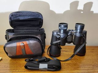 Simmons Binoculars with Straps  1 Screw Missing  Random Case