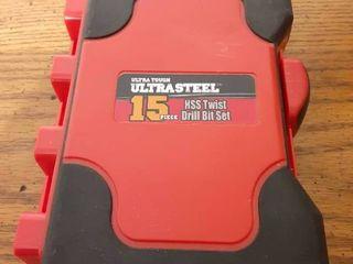 15 Piece Ultra Steel Drill Set