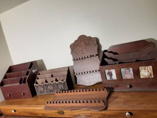 lot of Wooden Organizers 1 Plastic