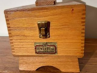 Griffin Shinemaster Wooden Box with Inside Storage