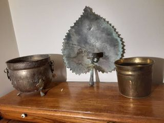 lot of 3 Rustic Metal Home Decor