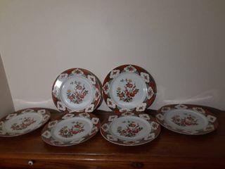Set of 6 Momoyama Plates