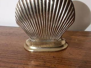 Pair of Brass Shell Shape Bookends