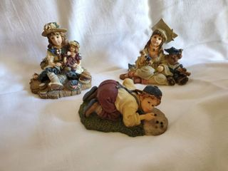 lot of 3 Yesterday s Child Figurines   See Details in Photos