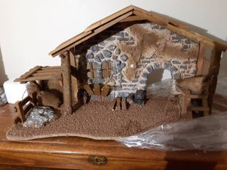 Nativity Scene Barn Stage