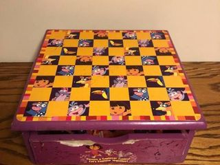 Dora The Explorer Chess Set with Underneath Storage