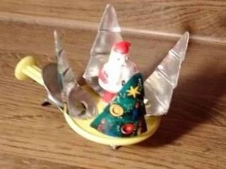 Small Vintage Santa Tin Spinning Toy