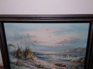 Ocean Scene Framed In Picture