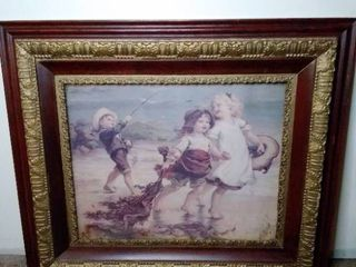 Two Children Playing Wall Decor