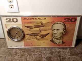 Australia Currency Decorative Clock
