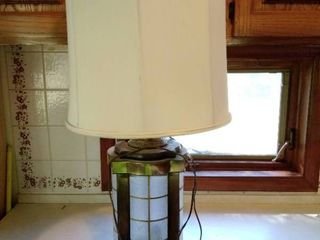 Tin and Glass MCM lamp