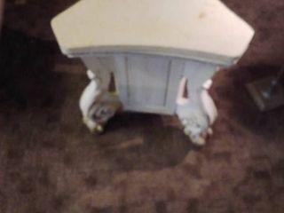 Vintage Swivel White Wooden Base