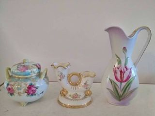 lot of 3 Collectible Gilded Trinkets  Nippon and more