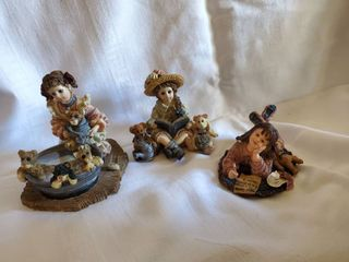 lot of 3 Yesterdays Children Figurines   See Photos for Details