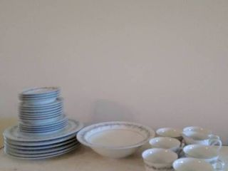 STYlE HOME Dish Set  Cups Saucers and Plates
