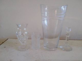large Glass Vase and Crystalware