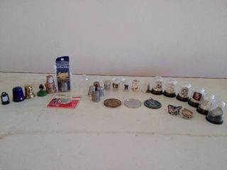 lot of Collectable Thimbles and Other Small Collectables