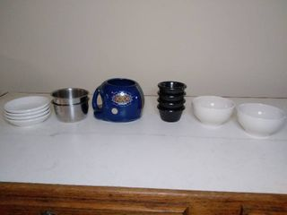 Suber Bowl XXX Coffee Mug and lot of Ramekins