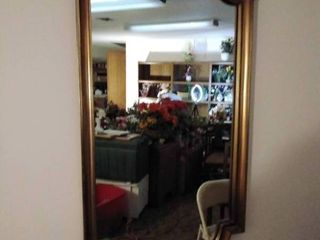 large Wall Mirror with Vintage Style Frame