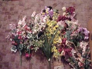 002 lot of Box Of Faux Flowers