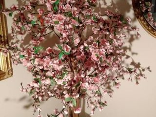 71 Inch Tall Pink Faux Tree in Wicker Pot