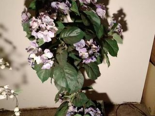 46 Inch Tall Faux Tree in Tin Planter