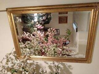 Beautiful Rectangle Gilded Framed Mirror