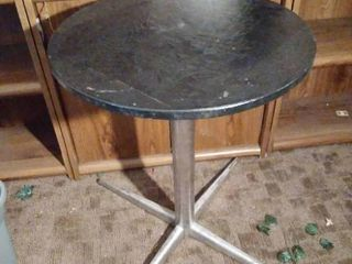 Chrome Metal Base Table